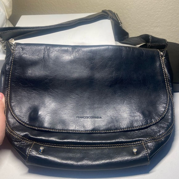 Vintage Francisco biasia black sholder bag